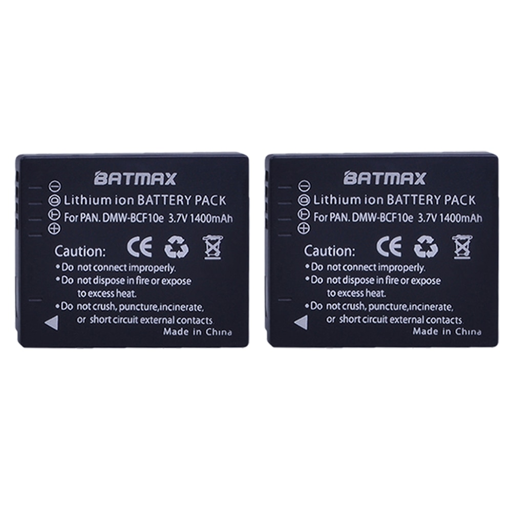 Bateria para Panasonic Lumix Cga-s – 106c 106d 106b De-a60b De-a59b Dmw-bcf10e Dmw Bcf10e Dmwbcf10e Dmc-f2 2 pc 1400 Mah