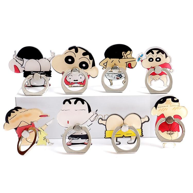 Chi-bi Maruko Crayon Shin-chan Anti-Caída de dedo de Metal anillo para teléfono móvil de apoyo figura de juguete