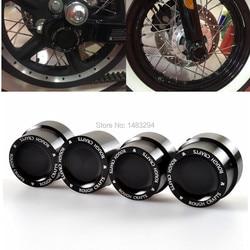 2 пары, передняя задняя ось, гайка, болт, крышки, грубое ремесло, черный алюминий, для Harley Sportster XL883 XL1200 Dyna Touring V-Rod