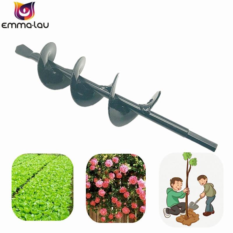 50x220mm Universal Spiral Leaf Drill Bit Electric Hex Yard Digger Garden Drill Bits Planting Vegetable Soil Steel Drilling Tool