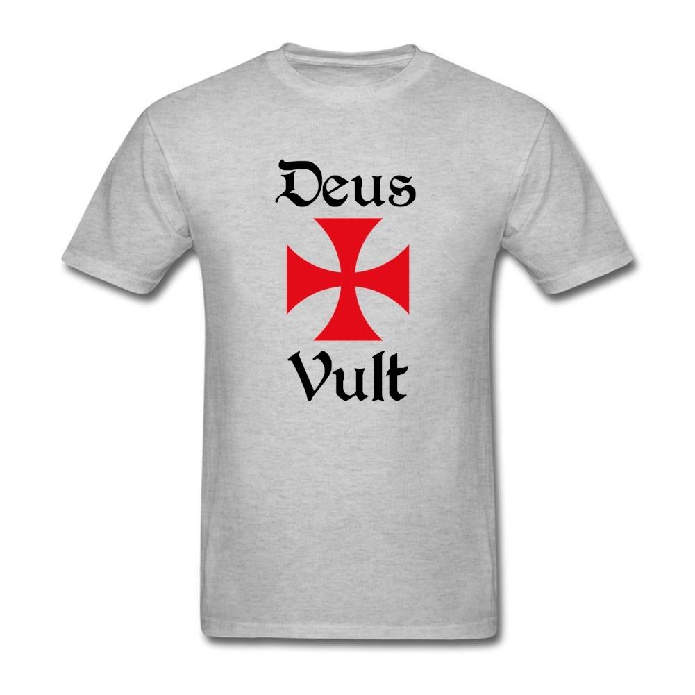 Camiseta de manga corta de Caballeros Templarios para niño, camisetas de alta calidad, Camiseta de algodón puro, cuello redondo para hombre, camiseta para grupo