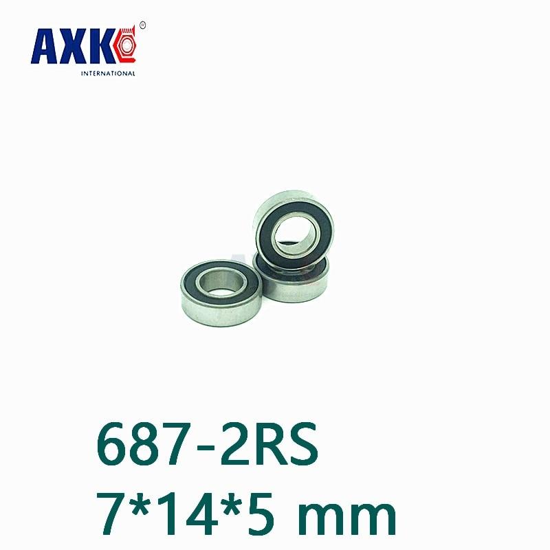 Rodamiento de cerámica híbrido Axk 687-2rs 7*14*5 Mm Abec-1 ( 1 pieza)...