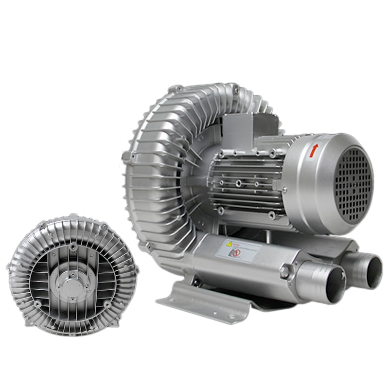 750W الصناعية ارتفاع ضغط دوامة مضخة تفريغ 220V 1PH الجافة الهواء منفاخ لآلة الصناعية