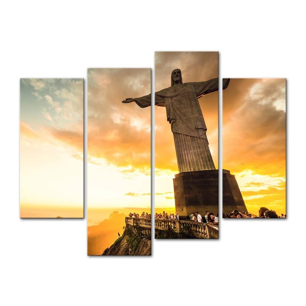 4 piezas estatua De Cristo Redentor en la parte superior De la montaña Corcovado en Río De Río estatua retrato Drop shipping