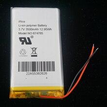 XINJ 3.7V 3500 mAh ليثيوم بوليمر بطارية ليثيوم بو الخليوي 674785 ل GPS سبت التنقل الهاتف الكتاب الإلكتروني سادة DVD PAD MID DIY IPTV اللوحي
