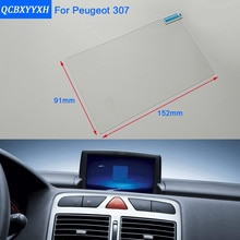 QCBXYYXH para Peugeot 307, película protectora de vidrio para Estilismo de coche, película protectora de pantalla de salpicadero para pantalla de navegación GPS