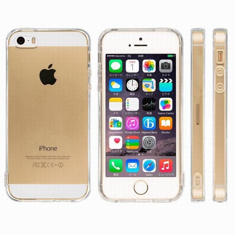 Suave de TPU claro fundas de la cubierta del caso para Apple Iphone 5s 5 2020 7 8 6 6S Plus 11 Pro Max X XS XR 5C iphone5 Iphone 5s Accesorios