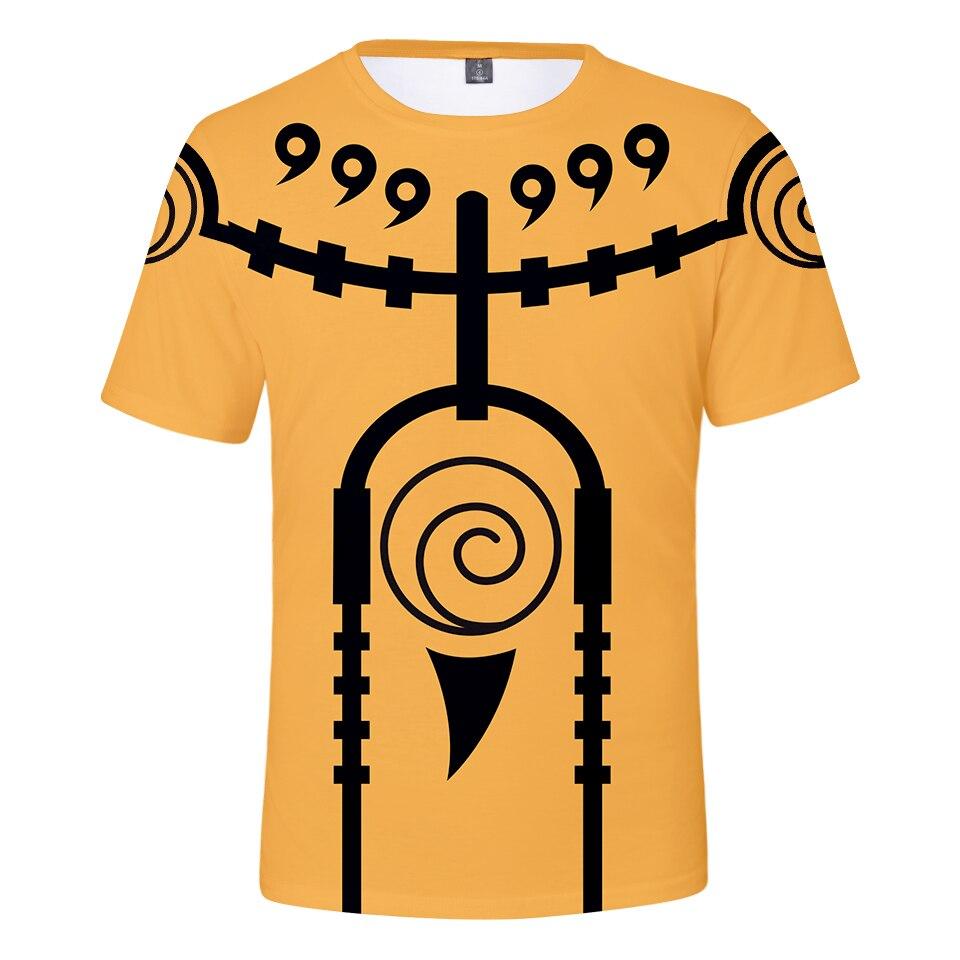 Camisetas de verano con estampado 3D de Naruto, camisetas de moda de calle, camiseta de anime fresca japonesa, ropa informal de talla grande