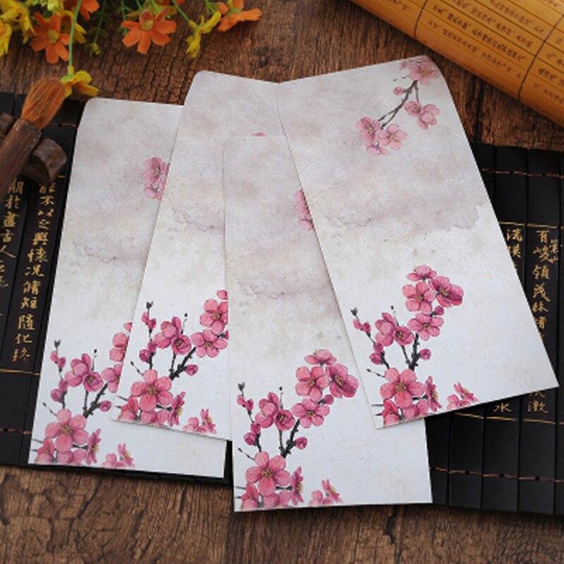 100 шт./лот креативные студенческие канцелярские товары в подарок традиционный классический бумажный конверт в эстетическом стиле Китайски...