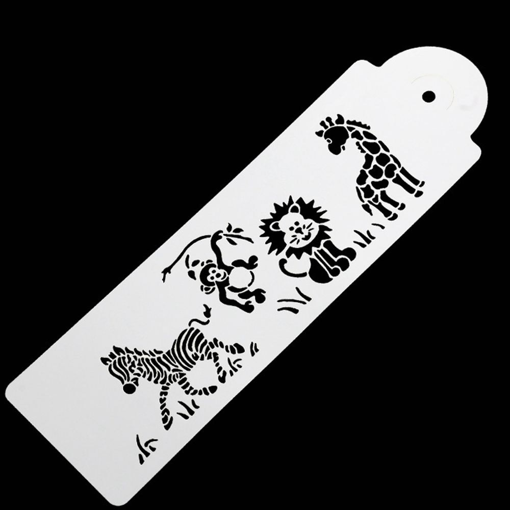 Bonito molde de jirafa, cebra, mono, León, pastel, plantilla, aerógrafo, molde de pintar, galletas, Fondant, pastel, Mousse, molde decorativo
