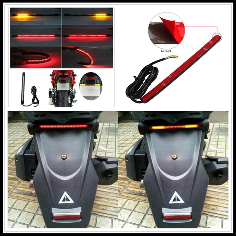 Tira de señal de giro de freno de luz de placa de luz trasera LED de motocicleta para HONDA FA AR SP CBR600RR YAMAHA R6S USA BT1100
