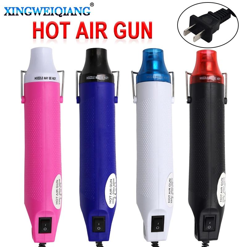 220V 300W Heat Gun Plug Industrial Electric Hot Air Gun Kit Professional Heatguns Shrink plastic Wrap Blower Heater
