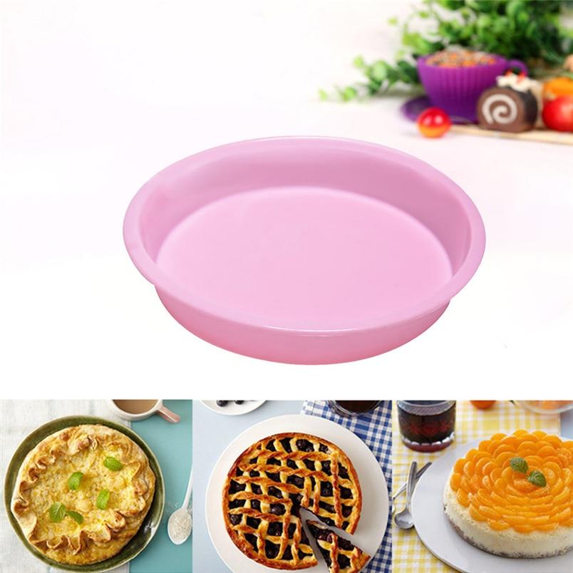 Nouvelle arrivée Silicone moule rond gâteau moule Muffin bonbons pain Pizza cuisson cuisson cuisson casserole cadeau 2018 Cocina K234