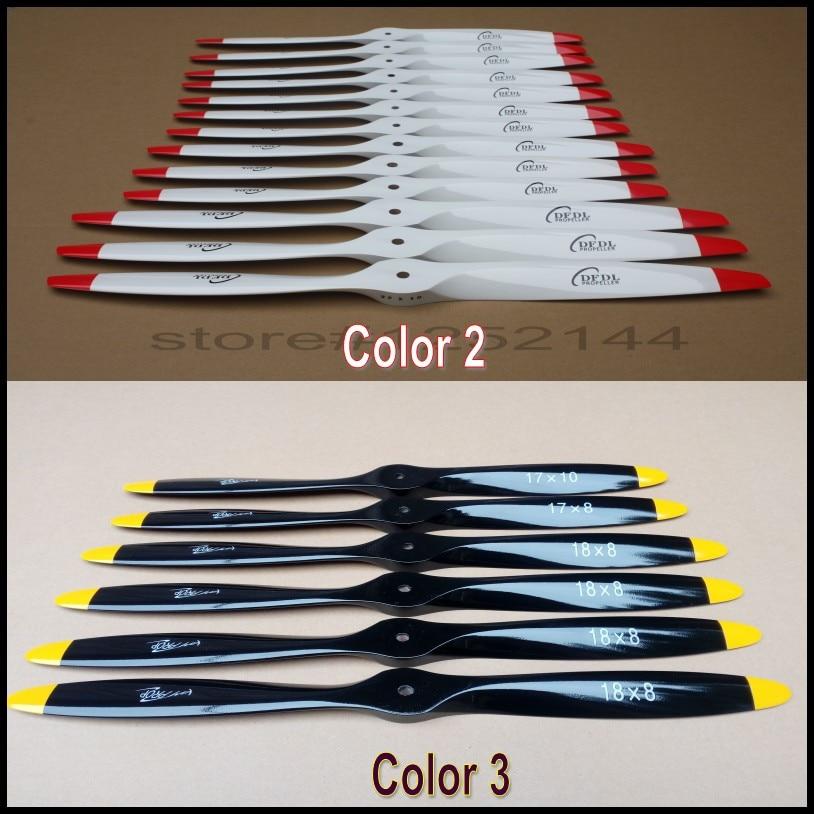 DFDL 14 дюймов 14X5/14x 6/14x 8/14x 10 3 цвета CWCCW деревянные пропеллеры высокого качества для RC газовый аэроплан, Квадрокоптер, Мультикоптер