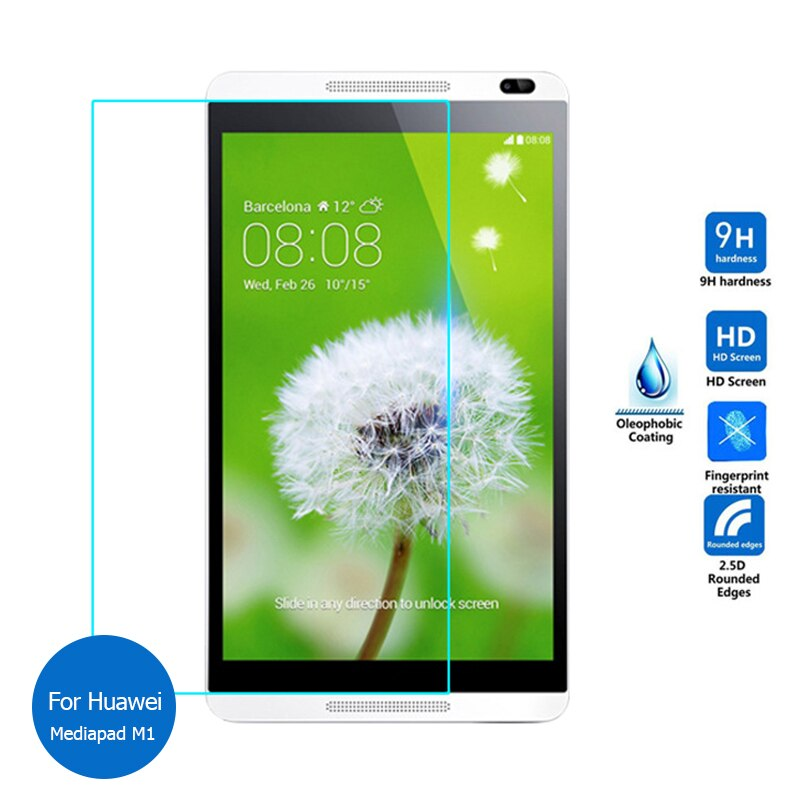 Tempered Glass Screen Protector For Huawei Mediapad M1 8.0 Safety Protective Glass on Media Pad M 1 S8 301L 301U
