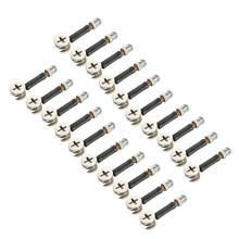 Uxcell Neue Heiße 20 Sets Möbel Seite Anschluss 13x10mm 15x12mm Cam Montage Dübel Pre -eingesetzt Mutter Joint Stecker Verschluss