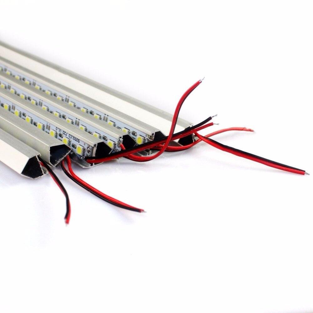100pcs/lot white 7000K 5630 SMD led rigid bar light with cover 36LEDS 50CM Cabinet light DC12V Showcase LED Hard Strip enlarge
