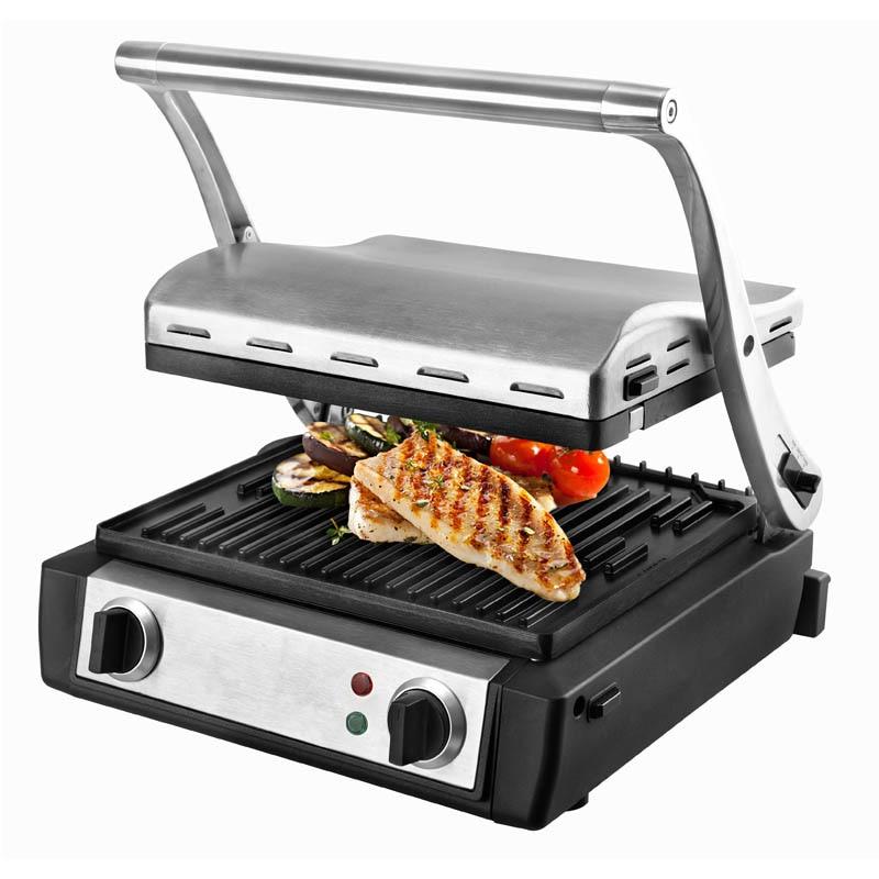 Коммерческая жаровня для барбекю электрическая Обжарка говядина Сэндвич Машина домашний завтрак Panini стейк жареная сковорода 1 шт.