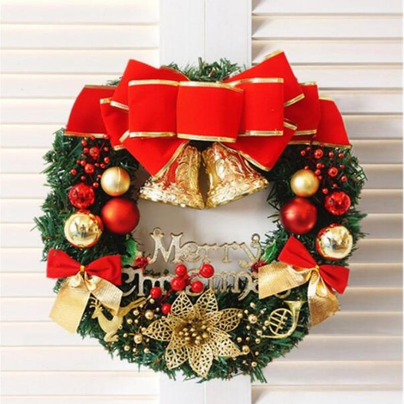 Guirnalda de Navidad hecha a mano de ratán colgante guirnalda centro comercial árbol de Navidad puerta ventanas decoración guirnalda adornos