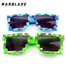 WBL 2018 Fashion Kids Sunglasses Smaller Size  Sunglasses Mosaic Boys Girls Pixel Eyewares Novelty C