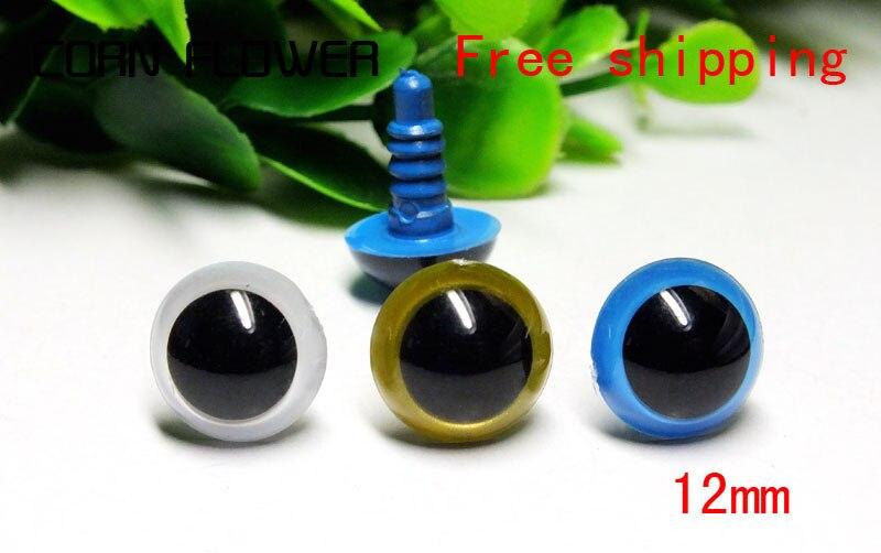 12 мм белый/золотой/синий 3 цвета комплект --- безопасные глаза/Пластиковые глаза-60 шт./лот