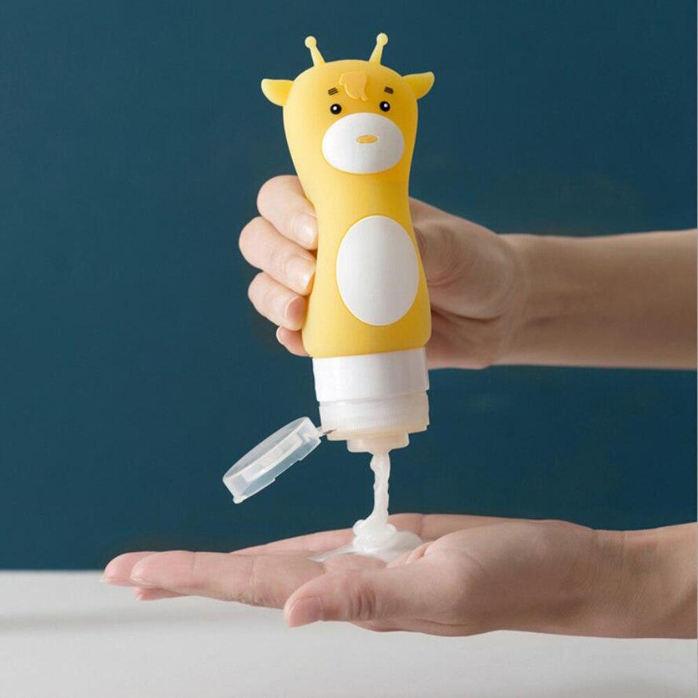 Organizador de silicona pingüino de dibujos animados Estuche De Viaje champú ducha Gel loción almacenamiento botella rellenable dispensador de jabón portátil 10100D