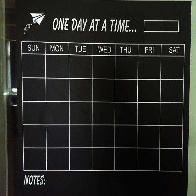 Vinilo DIY semanal Calendario de pizarra pegatina planificador papel tapiz pegatinas de pared envío gratis 45cm * 60cm