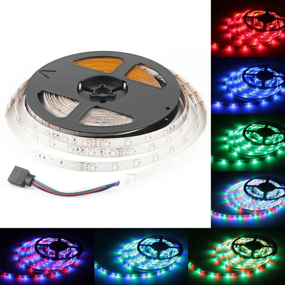 Tira de luces LED DC12V 5M RGB/blanco cálido/azul impermeable cinta LED luces flexibles SMD2835 60led/M