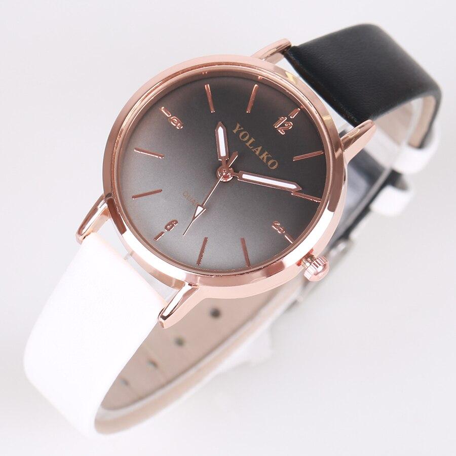 2018 YUSHENG de moda de las mujeres de lujo reloj diseño multicolor retro de cuero banda analógica de aleación de cuarzo reloj de pulsera montre femme