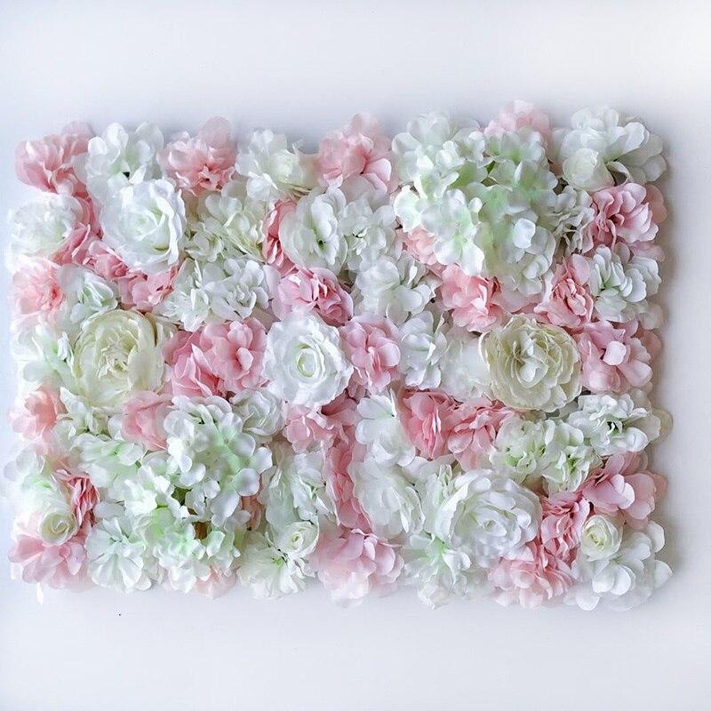 Decoración de pared de flores de seda Artificial camino de plomo Hortensia Flor de peonía Rosa Mat para el Arco de la boda pabellón esquinas decoración floral