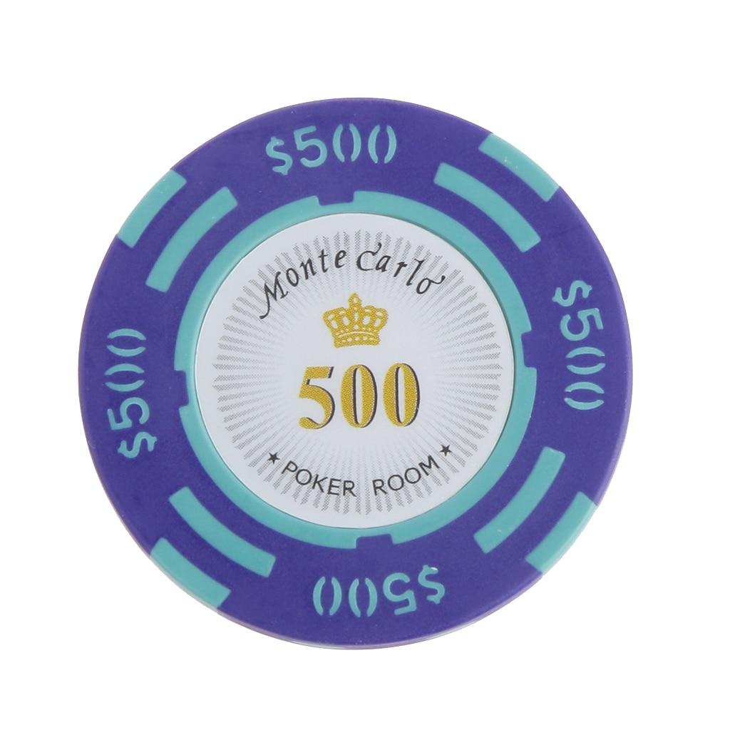 4x0.3 cm 500 dólares valor par monte carlo poker quarto etiqueta casino argila chips