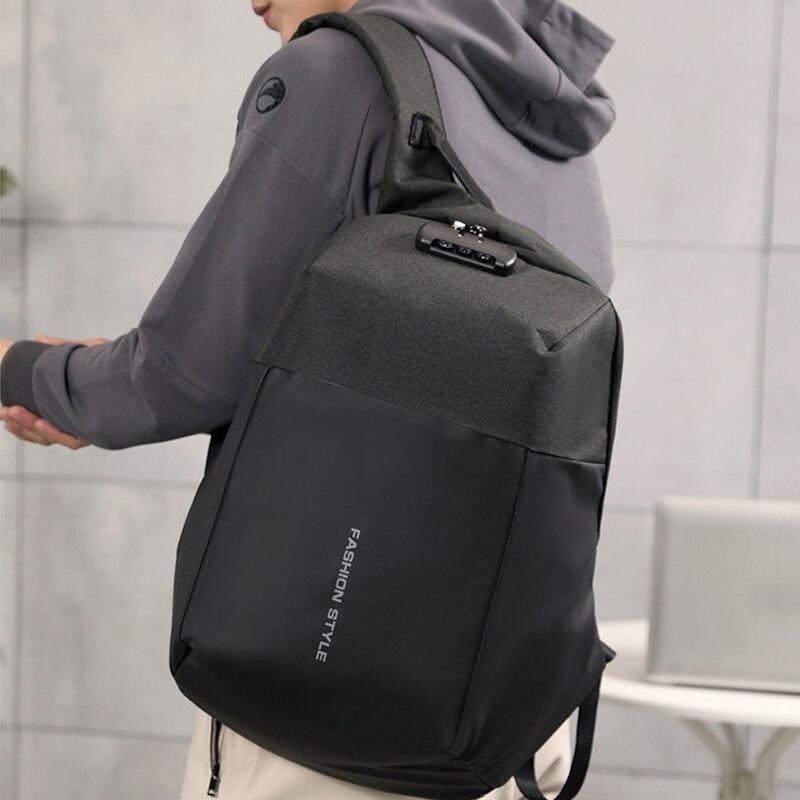 Mochila antirrobo para hombre, mochila informal de viaje para escuela con puerto de carga USB Invisible, la mejor venta-WT