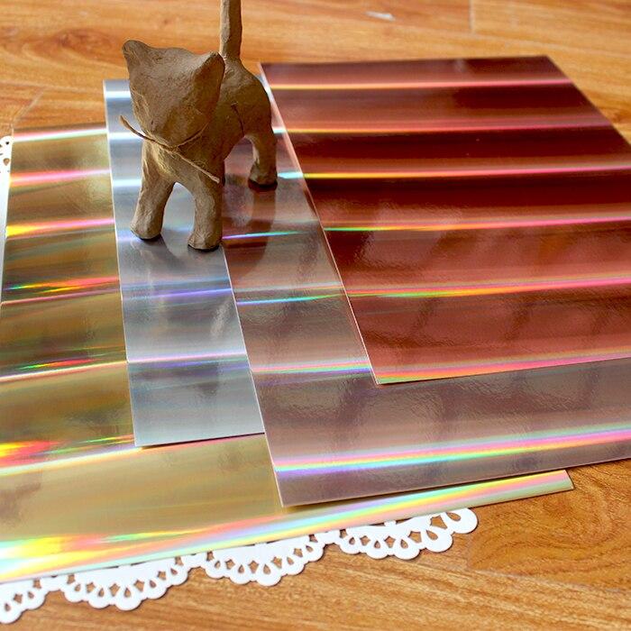 KSCRAFT 32 hojas/paquete A4 color tonos holográfico metálico tarjeta 250GSM