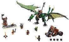 79345 Phantom Ninja le Dragon NRG vert assemblé bloc de construction enfants briques jouets cadeau pour enfants Compatible avec 70593 10526