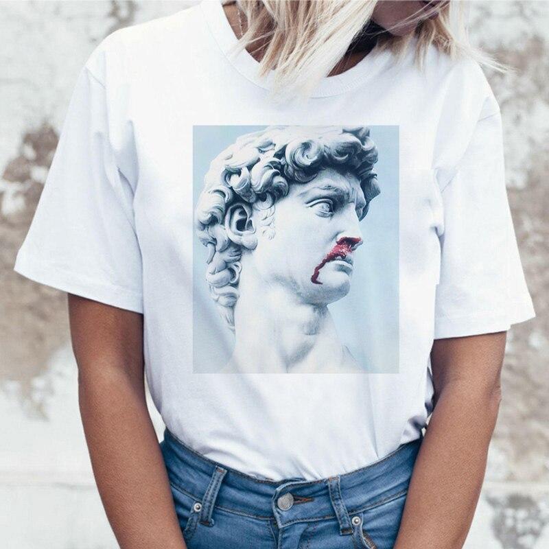 Grunge estilo estético Tumblr mujeres top camiseta coreana divertida ulzzang 90s mujer camiseta ropa camiseta vaporwave