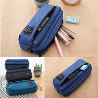 Deli Canvas Pencilcase for school Supplies Student Bts Stationery Storage bag Gift Pencil Bag School Case pencil pouch for Boy
