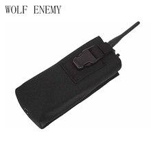 Sac de chasse MOLLE réglable support Radio tactique talkie-walkie Holster haut ouvert avec boucle M4 poche magnétique