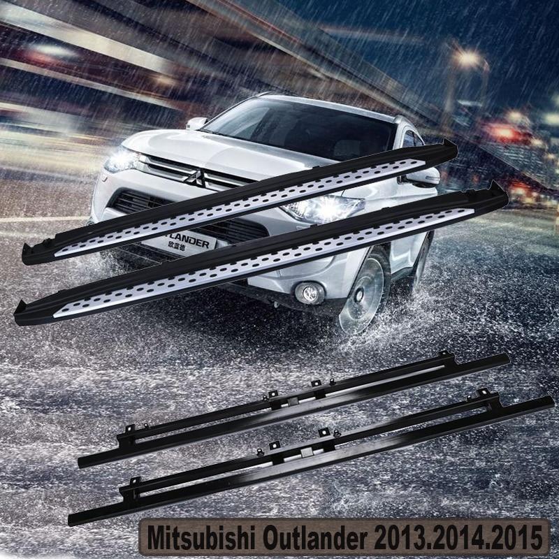 Outlander, tablas de correr, pedales de barra de paso laterales para Mitsubishi Outlander 2013.2014.2015. Nuevo diseño Original, barras Nerf