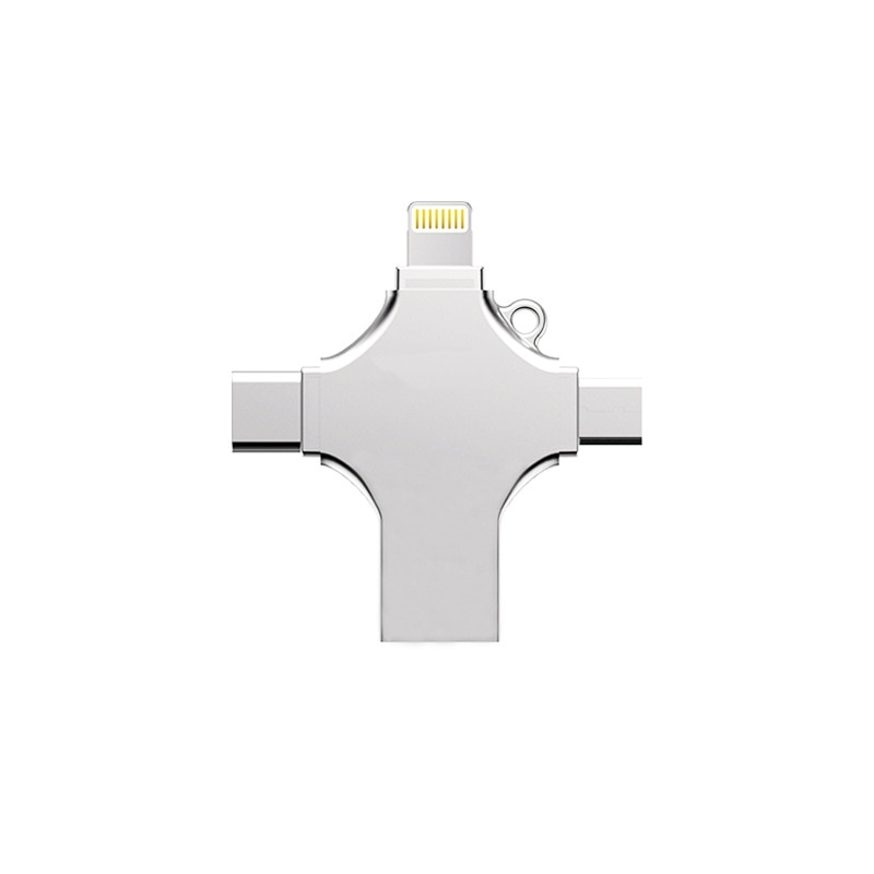 Kismo 4 en 1 unidad Flash USB Micro Lightning/USB/tipo-C Pen Drive para Samsung S8 S9 Nota 9 Mate10 P20 iphone 8 7 6 Plus iPad aire