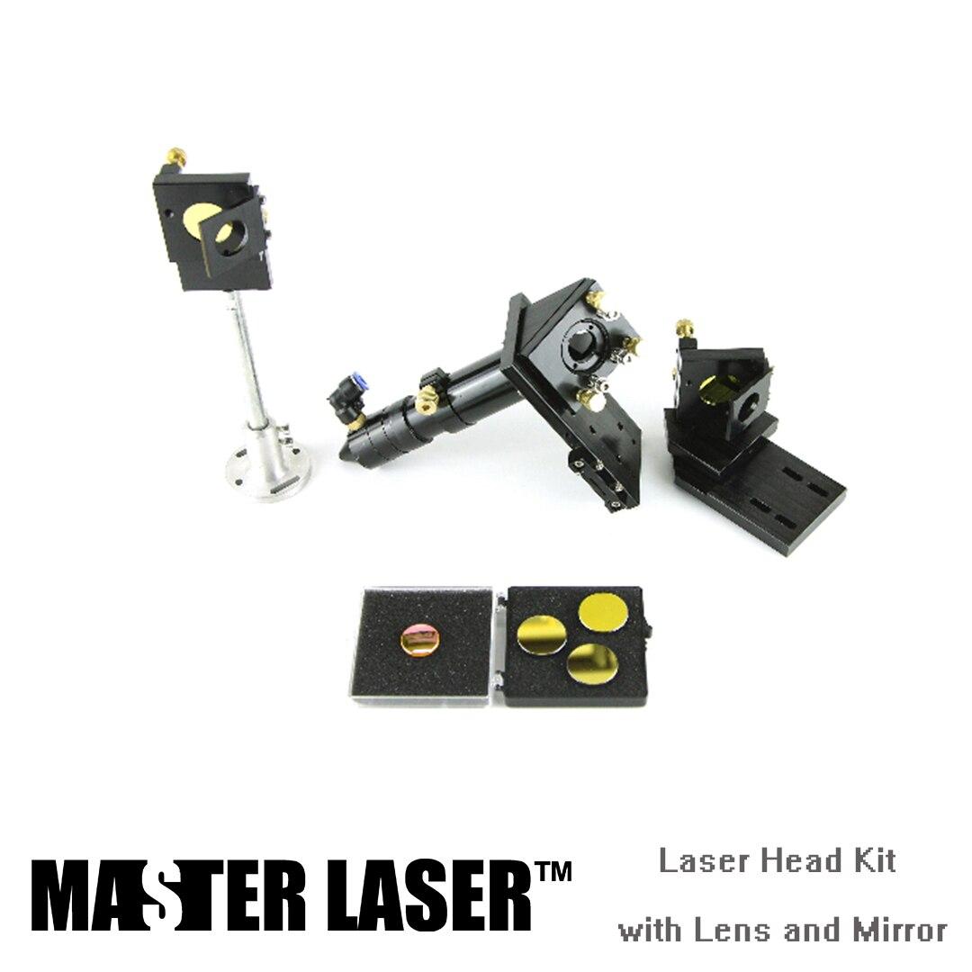 حامل ليزر لآلة القطع بالليزر CO2 ، طقم عدسة التركيز ، مرآة عاكسة ، رأس القطع بالليزر ، أفضل جودة