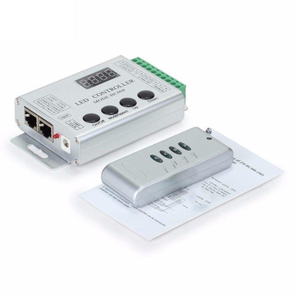 HC008 клавиши RGB Led контроллер пикселей программируемый контроль 2048 пикселей 133 режимов эффекта WS2811 WS2811 UCS1903 контроллер