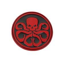 Grêle Hydra-Rouge Américaine Capitaine Crâne Rouge Boucle De Ceinture