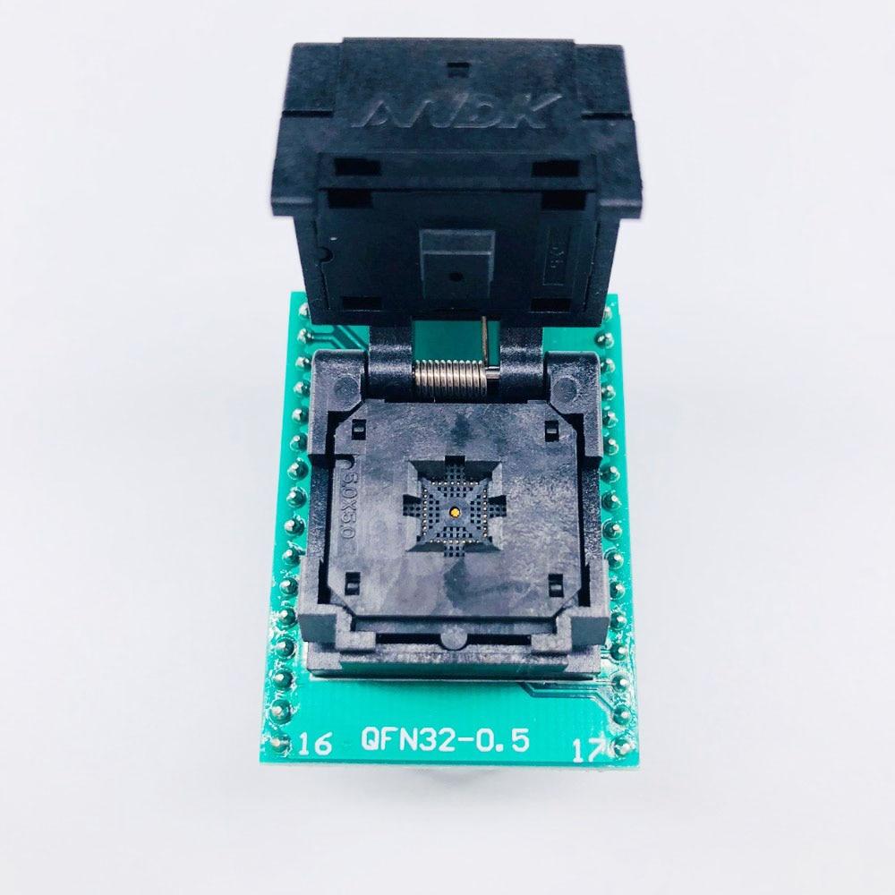 QFN32 MLF32 IC шаг 0,5 IC550-0324-007-G тест/программирование гнездо раскладушка Чип Размер 5*5 флэш-адаптер SMT тестовое гнездо