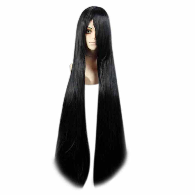 Mcoser 30 cores das mulheres longa reta cosplay festa do cabelo sintético peruca completa 100% fibra de alta temperatura cabelo KW-012