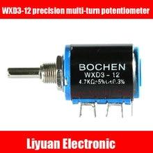 10 pz WXD3-precisione multi-turn potenziometro/1 K 2.2 K 3.3 K 4.7 K 10 K 22 k potenziometri a filo/5 giri rheostat scorrevole