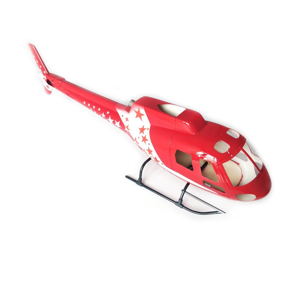 Kit de fuselaje de cuerpo de fibra de vidrio para helicóptero AS350 Ecureuil 450 tamaño prepintado fuselaje para helicóptero modelo RC avión