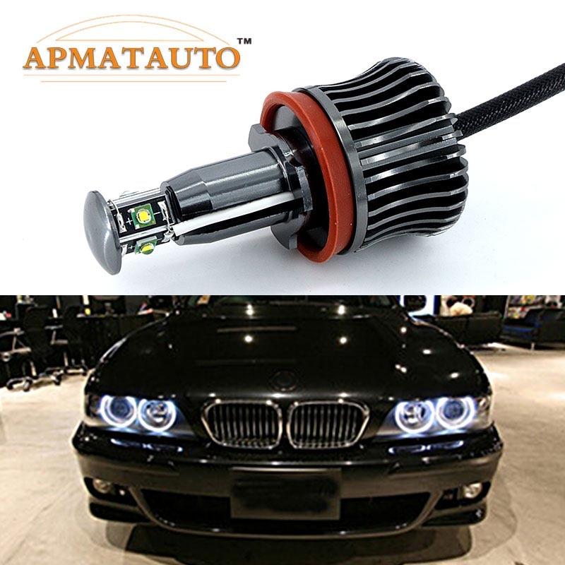 2x H8 خطأ مجاني 40 واط 2400lm XPE رقائق LED الملاك العين مصباح تحديد أبعاد المركبة لمبات لسيارات BMW E60 E61 E70 E71 E90 E92 E93 X5 X6 Z4 M3