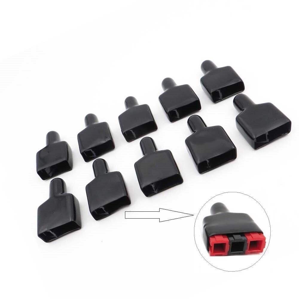 10 Uds X cubierta de PVC FR manga ignífuga para 3 uds PP30 PP45 conector de clavija PowerPlug vivienda Solar caravana barco color negro
