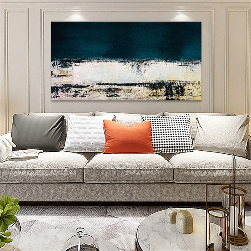 Nordique peinture toile peinture à lhuile mur art photos pour salon décor à la maison peint à la main moderne abstrait cuadros quadro 09