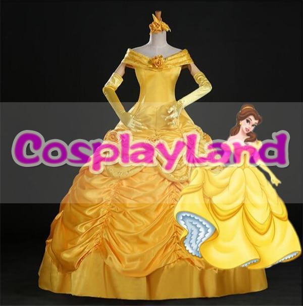 Beauty and Beast Belle Dress Adult Princess Belle Cosplay Costume Fancy Princess Belle Costume Halloween Belle Dress